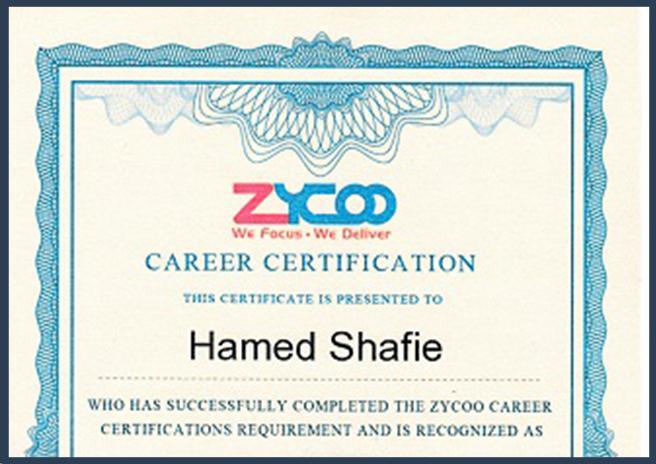 مدرک پشتیبانی ویپ زایکو